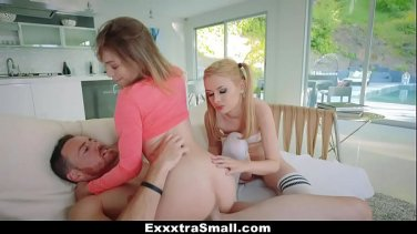 Stepmom threesome with a naughty joining