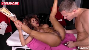 eva fenix makes her cuck slave watch as she get ass fucked