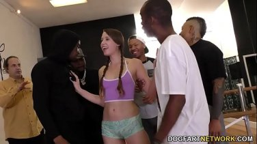Mature cocksucker Alexis Fawx takes two dick in her slobbery throat